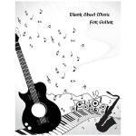预订 Blank Sheet Music for Guitar: Music Manu* Paper / Musici
