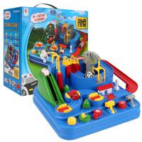汽车大冒险小火车轨道车停车场玩具套装益智儿童男孩闯关礼物
