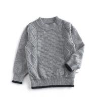 新款男士线衫秋冬男儿童毛衣男孩羊绒衫打底衫学生套头毛线衣宝宝针织