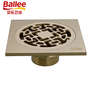 【满200减100】贝乐BALLEE T44欧式T型地漏铜质铜色防臭地漏搭配仿古砖