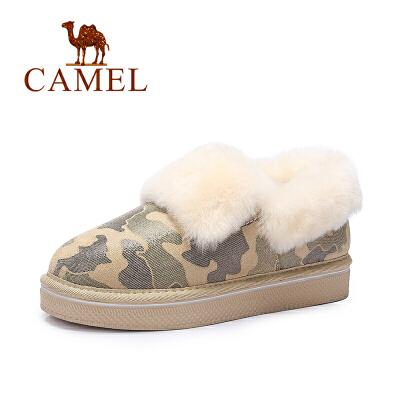 Camel/骆驼女靴  短筒靴学生棉鞋时尚保暖雪地靴
