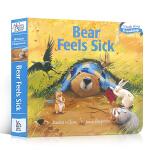 【发顺丰】吴敏兰绘本123推荐第68本 暖房子经典绘本系列Bear Feels Sick 纸板书 贝尔熊生病了Karm
