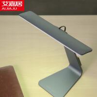 艾嘉居 欧式简约台灯 创意卧室床头充电台灯 USB折叠触摸调光LED护眼台灯 学生宿舍台灯