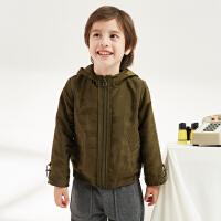 【2件2.5折:109元】马拉丁童装男童夹克外套春装新款洋气宽松防风儿童迷彩外套潮