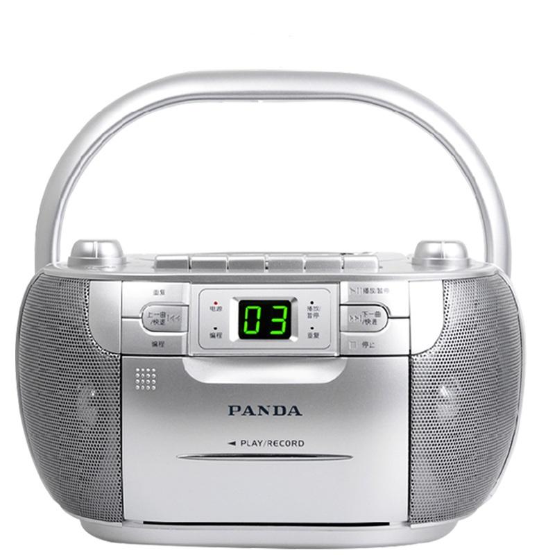 熊猫 CD-103  CD机 面包机 收录机 磁带机cd播放机录音机 胎教机 播放器 英语学习机 【包邮+赠耳机+空白磁带】cd播放机