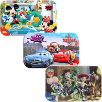 【当当自营】迪士尼拼图玩具 60片铁盒木质拼图三合一(米奇2390+赛车2393+玩具总动员2267)