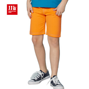 jjlkids季季乐童装男童休闲舒适透气夏季针织五分裤中大童薄款