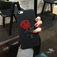 【支持礼品卡】刺绣玫瑰花iphone6s手机壳7PLUS皮套苹果6plus软壳7创意女款潮