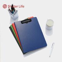 加厚树德 U6133 文件夹板资料夹学生写字垫板板夹合同签约经理夹 A4