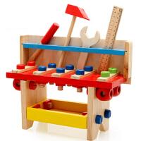螺母组合玩具3-5-6岁以上益智力婴幼儿童木制工具台拼拆装