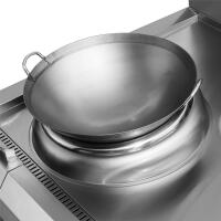 商用电磁炉酒店专用不锈铁锅具40cm50cm60cm电磁灶不锈钢单柄炒锅