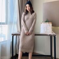 秋冬长款加厚针织裙打底裙子孕妇装冬款上衣时尚款孕妇毛衣连衣裙