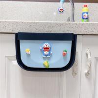 厨房垃圾桶橱柜悬挂式可伸缩分类卡通家用收纳专用壁挂折叠筒篓大