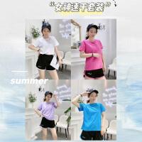 新款速干衣运动套装女夏季跑步健身瑜伽服短袖套装