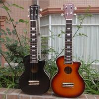 21寸尤克里里 ukulele小四弦琴 乌克丽丽小吉他黑色 日落色两色可选