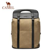 Camel/骆驼男包男士双肩包复古休闲背包男韩版百搭大容量旅行包包