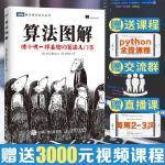 算法图解 像小说一样有趣的算法入门书 基于python算法基础书籍计算机算法编程教材书籍 算法入门教程 算法设计手册