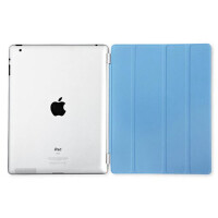 ikodoo爱酷多 苹果平板电脑ipad2/3/4透明伴侣保护壳 smart cover前盖 智能休眠皮套 ipad4