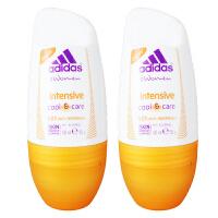 阿迪达斯(Adidas) 女士走珠香水香体止汗露液滚珠50ml 两支装加倍清爽 3972