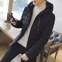 男士棉衣新款冬季外套韩版修身短款棉服潮流连帽棉袄冬天衣服