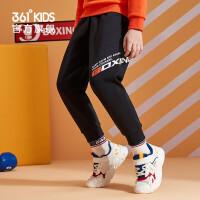 【新品叠券预估价:95】361度童装 男童针织加厚长裤2020冬季新款中大童儿童加绒针织长裤