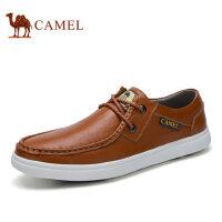 camel骆驼男鞋 新品 时尚休闲皮鞋男 牛皮休闲皮鞋