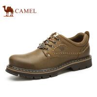 camel骆驼工装鞋 春新款  耐磨系带休闲男鞋大头鞋