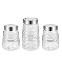 爱仕达储物罐 玻璃密封罐三件套装厨房收纳多用桶RLT03C1WG