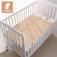 威尔贝鲁 婴儿隔尿垫新生儿宝宝超大防水隔尿床垫纯棉可洗月经垫
