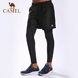 camel骆驼运动短裤 男款休闲舒适透气 健身跑步宽松运动裤