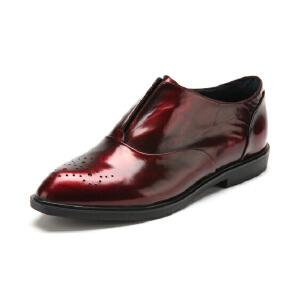 【3折到手价149.7元】迪芙斯D:FUSE牛皮尖头低跟套脚纯色深口女鞋DF53114036