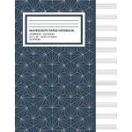 预订 Manu* Paper Notebook: Abstract Geometric Line Cover, 12