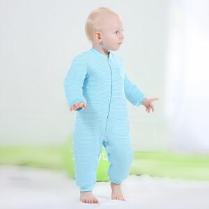 【加拿大童装】Gagou Tagou婴儿连体衣加厚秋冬男女宝宝棉衣哈衣爬服纯棉外出新生儿衣服冬季