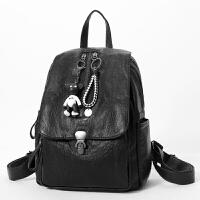 女士休闲书包包时尚旅行背包女新款韩版潮个性百搭软皮双肩包