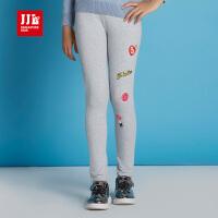 JJLKIDS季季乐女童休闲裤秋季新款松紧裤腰舒适百搭打底裤童装GQJ63247