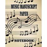 预订 Music Manu* Paper Notebook: A Blank sheet music notebook