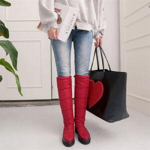 O'SHELL欧希尔新品106-m8139欧美混合材质中高跟女士雪地靴