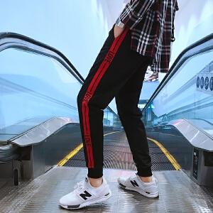 青少年港风新款修身束脚男士韩版休闲裤青年运动裤子哈伦长裤6