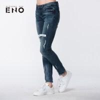 BURANDO ENO潮牌女式牛仔裤时尚休闲裤E7SPW71001
