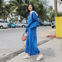卫衣套装女韩国学生宽松连帽卫衣+九分阔腿裤休闲运动套装两件套