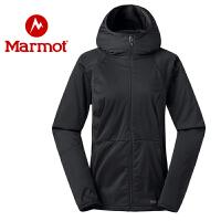 Marmot/土拨鼠运动户外防水女士透气夹克M1软壳衣上衣
