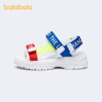 【2件4折价:98.4】巴拉巴拉官方童鞋男童凉鞋小童运动凉鞋撞色潮酷2021新款夏季鞋子