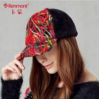 冬季棒球帽kenmont女士帽子冬天鸭舌帽时尚韩版潮帽嘻哈1439