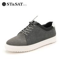 星期六男鞋(ST&SAT)新专柜同款轻便透气运动休闲跑步板鞋男SS83123020