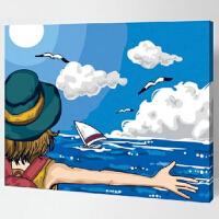 菲绣绣艺  数字彩绘自助油画 拥抱自由 40*50cm diy数字油画客厅大幅手绘装饰画 儿童卡通