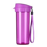特百惠水杯380ML茶韵随手杯便携塑料杯子运动水壶学生儿童杯茶杯野莓紫