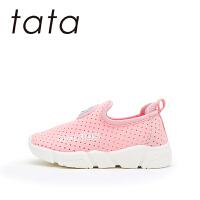 【119元任选2双】他她tata童鞋学步鞋女童鞋子2019新款春宝宝鞋子婴儿1-3岁软底防滑儿童鞋W80073
