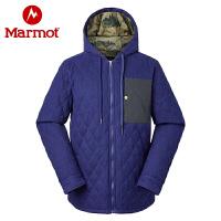 Marmot/土拨鼠秋冬款户外男士运动保暖透气双面磨毛法兰绒棉服