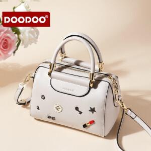 【支持礼品卡】DOODOO 包包女2018新款潮韩版波士顿手提包时尚百搭单肩斜挎包女包 D7095