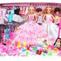 换装芭芘娃娃套装大礼盒衣服婚纱公主过家家3D眼巴比娃娃玩具女孩
